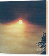 Wildfire Smoky Sky Wood Print
