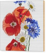 Wildflower Arrangement Wood Print