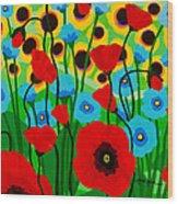 Wildflower Fiesta Wood Print