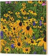 Wildflower Gold Wood Print