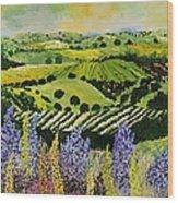 Wildflower Ridge Wood Print