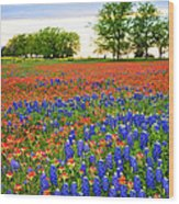 Wildflower Tapestry Wood Print