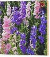 Wildflowers #15 Wood Print