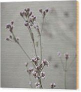 Wildflowers By The Lake Wood Print