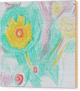 Wildflowers Cyprus Wood Print