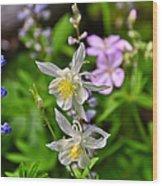 Wildflowers Greeting Card Wood Print