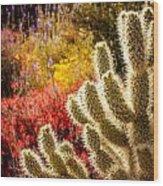 Wildflowers Ignite  Wood Print