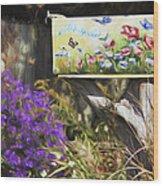 Wildlife's Mailbox Wood Print