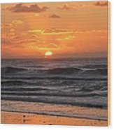 Wildwood Beach Here Comes The Sun Wood Print