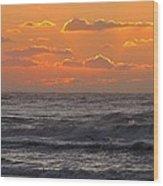 Wildwood Beach Just Before Dawn Wood Print