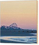 Wildwood Beach Panorama Wood Print
