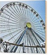 Wildwood Ferris Wheel Wood Print