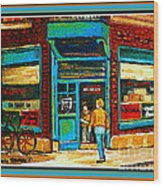 Wilenskys Art Famous Blue Door Posters Prints Cards Originals Commission Montreal Painting Cspandau  Wood Print