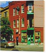 Wilenskys Famous Light Lunch Diner Corner Clark And Fairmount Montreal City Scene Carole Spandau Wood Print