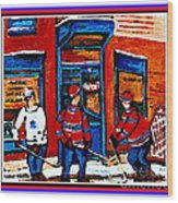 Wilenskys Hockey Art Posters Prints Cards Originals Commission Montreal Paintings Contact C Spandau Wood Print