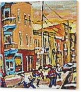 Wilenskys Hockey Paintings Montreal Commissions Originals Prints Contact Artist Carole Spandau  Wood Print