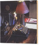 Will Rogers Desk Wood Print by Paul W Faust -  Impressions of Light