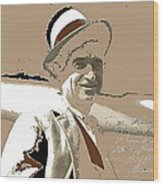 Will Rogers Informal Portrait Unknown Photographer Or Location 1924-2014  Wood Print