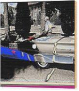 Will Rogers  Jr. Grand Marshall With Polo Mallet Tucson Arizona University Of Az Centennial  1985 Wood Print