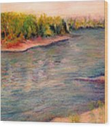 Willamette River Reflections - Morning Light Wood Print