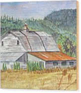 Willamette Valley Barn Wood Print
