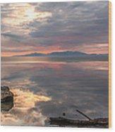 Willard Bay Wood Print