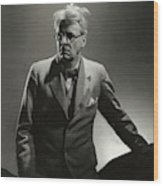 William Butler Yeats Wearing A Three-piece Suit Wood Print