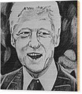 William Jefferson Clinton Wood Print by Jeremy Moore
