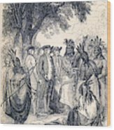 William Penns Treaty With The Indians Wood Print