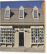 William Pitt Shop Williamsburg Virginia Wood Print