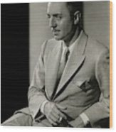 William Powell Wearing A Suit Wood Print