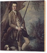 William Poyntz Of Midgham And His Dog Amber Oil On Canvas Wood Print
