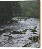 Williams River Rain Downpour Wood Print