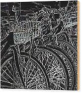 Williamsburg Bikes Wood Print