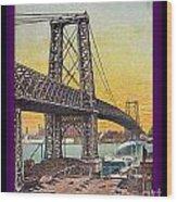 Williamsburg Bridge In New York- 1910 Wood Print