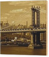 Williamsburg Bridge New York City Wood Print
