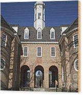 Williamsburg Capitol Wood Print