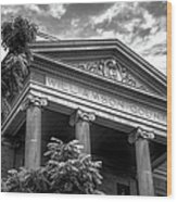 Williamson County Courthouse Bw Wood Print