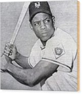 Willie Mays  Poster Wood Print
