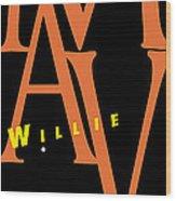 Willie Mays Wood Print