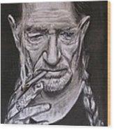 Willie Nelson - Doobie Brother Wood Print