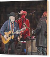 Willie Nelson - Live In Austin Wood Print