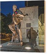 Austin Willie Nelson Statue Wood Print
