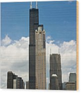 Willis Tower Aka Sears Tower Wood Print by Adam Romanowicz