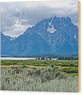 Willow Flats Overlook In Grand Teton National Park-wyoming   Wood Print