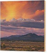 Willow Flats Sunset Wood Print