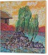 Willow Tree Isle Wood Print