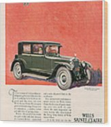 Wills Sainte Claire 1925 1920s Usa Cc Wood Print by The Advertising Archives