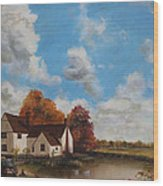 Willy Lott's Cottage Wood Print by Cecilia Brendel