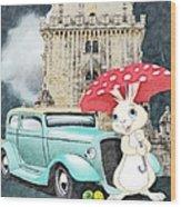 Willy The Wabbit Urrr I Mean Rabbit Wood Print